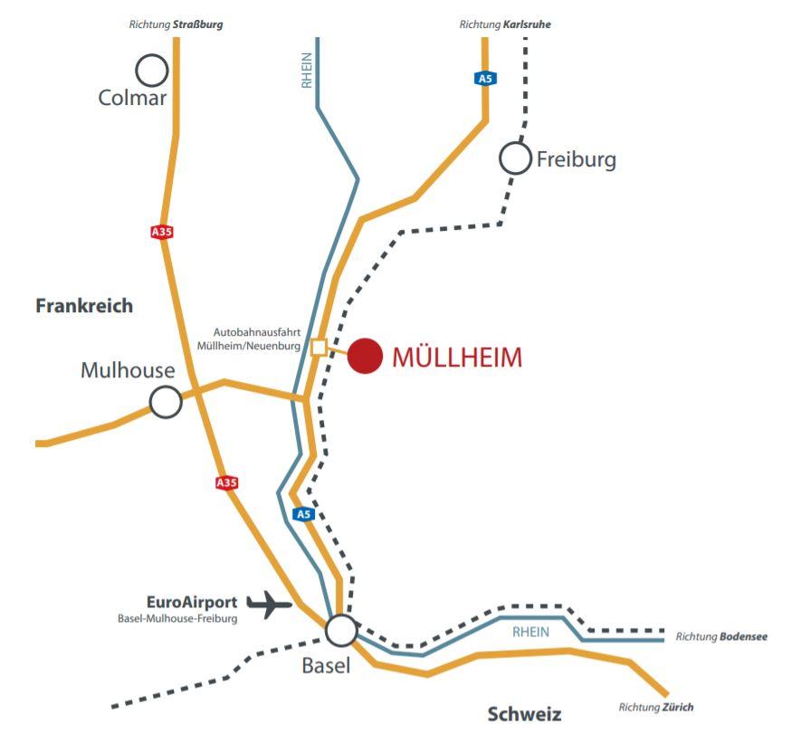 Anreise Müllheim